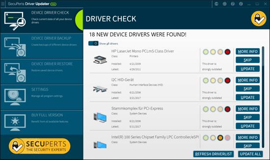 SecuPerts Driver Updater Screenshot